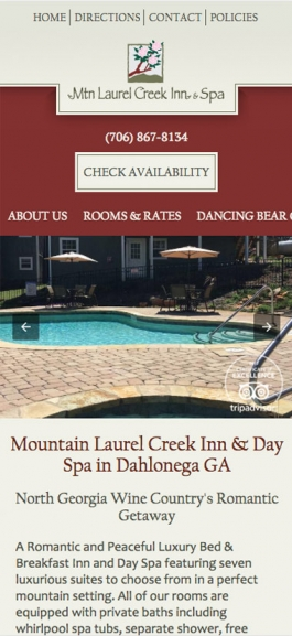 Mobile Bed and Breakfast Website