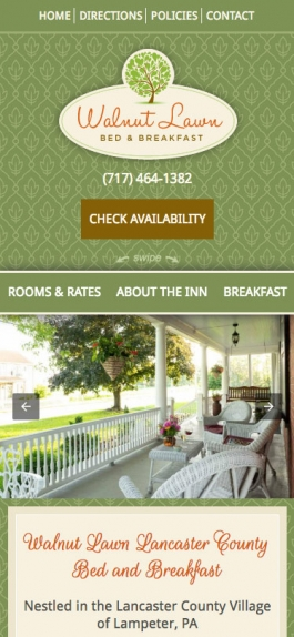 Mobile B&B Website
