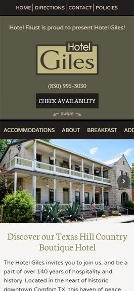 Hotel Giles Mobile Design